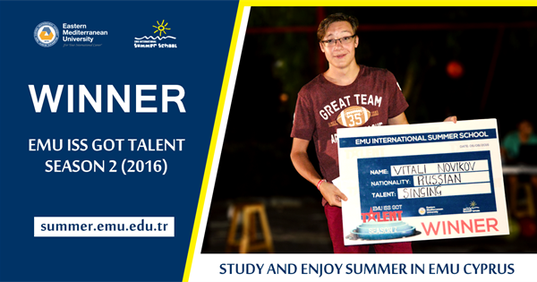 Talent Competition Organised by the EMU International Summer School