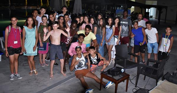 EMU International Summer School Organized a Pool Cinema/Party
